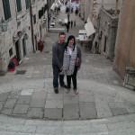 Lisa and James posing at S5 location