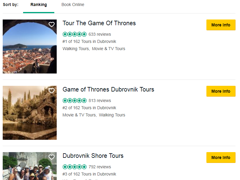Tour The Game of Thrones TripAdvisor